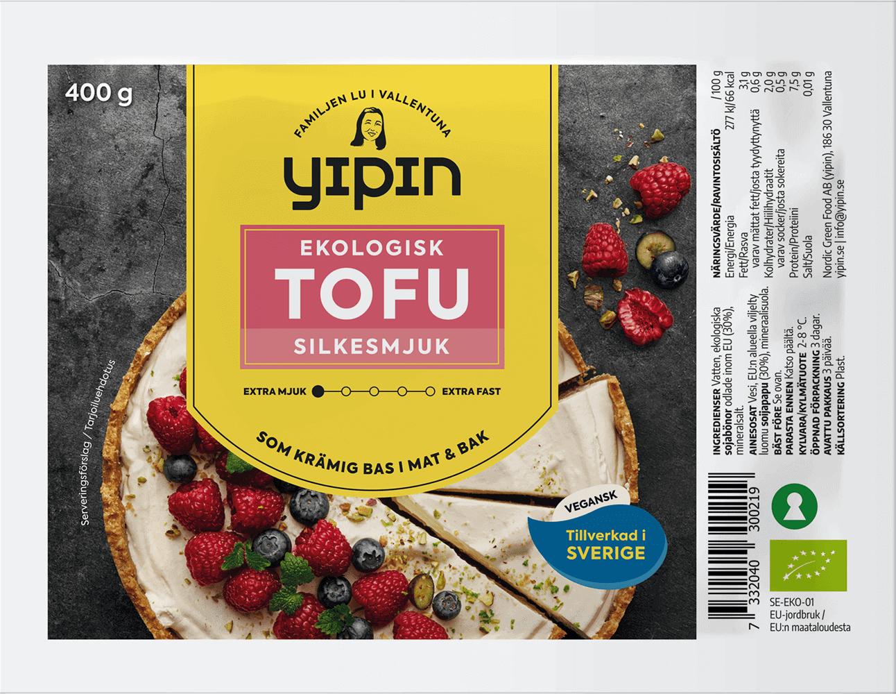 YiPin Tofu Silkesmjuk Ekologisk 400g EKO Silkestofu
