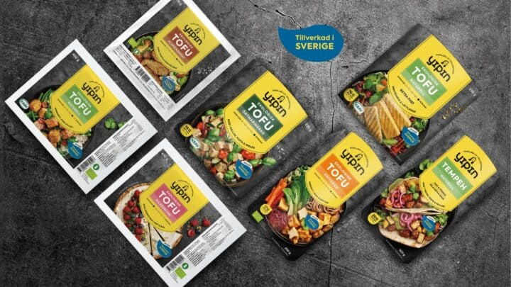 Bilden visar nya förpackningar från Yipin