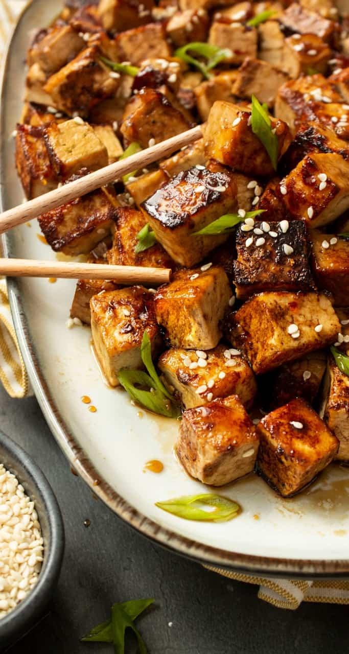 Bilden visar en marinad till tofu och tempeh